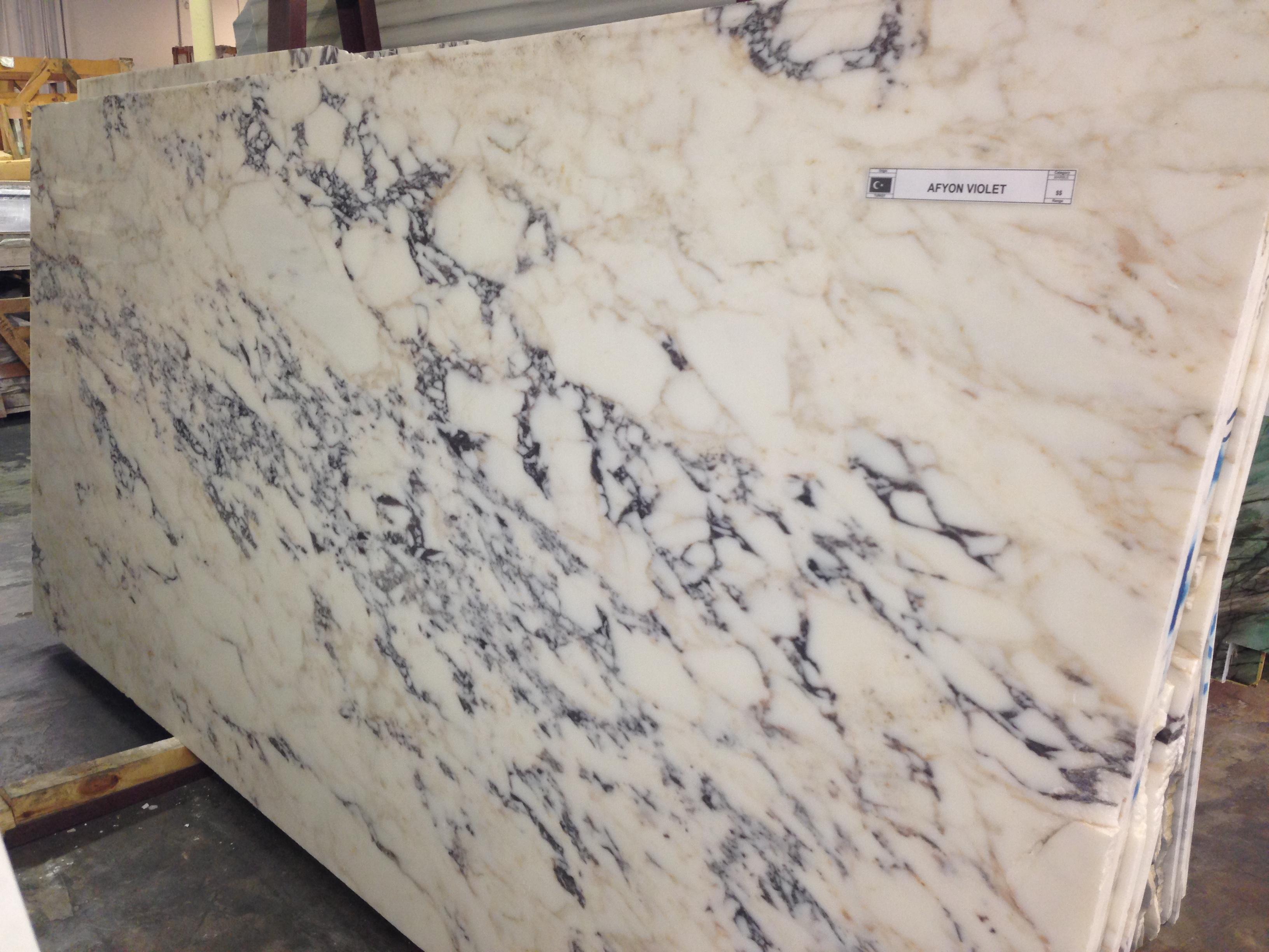 2Cm Afyon Violet Polished Marble Slab